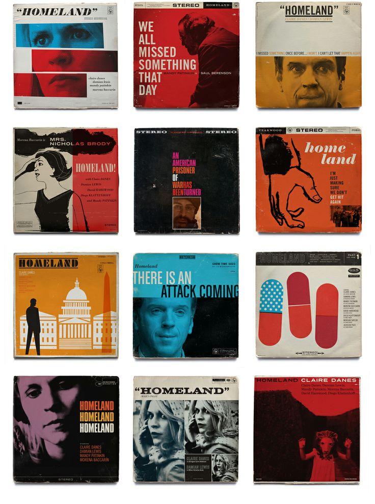 Capas de disco de Jazz para a Série Homeland